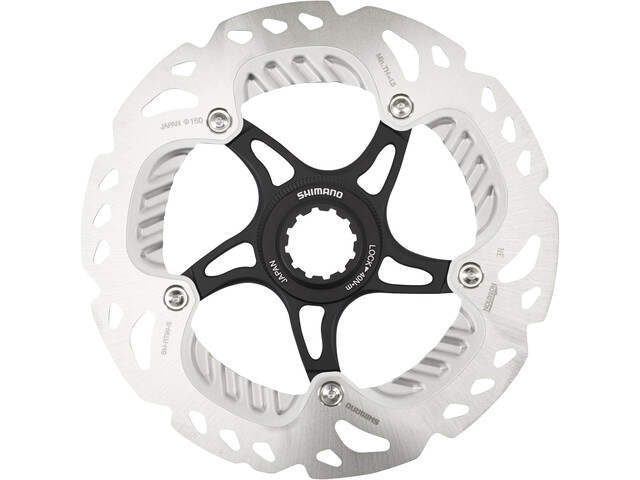 Shimano SM-RT99 Brake Disc with Lock-Ring, silver/black